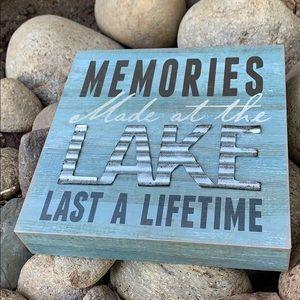 Lake wood box farmhouse sign